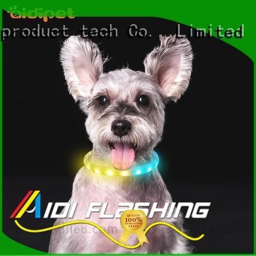 reflective illuminated dog collar design for walking