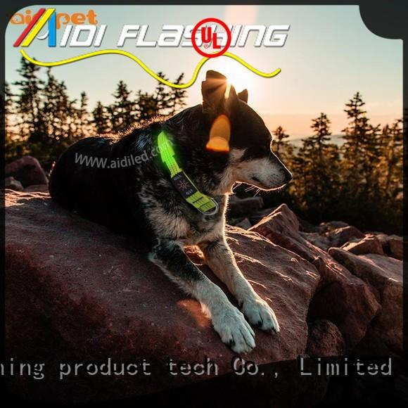 glowing light up dog collar factory for pet