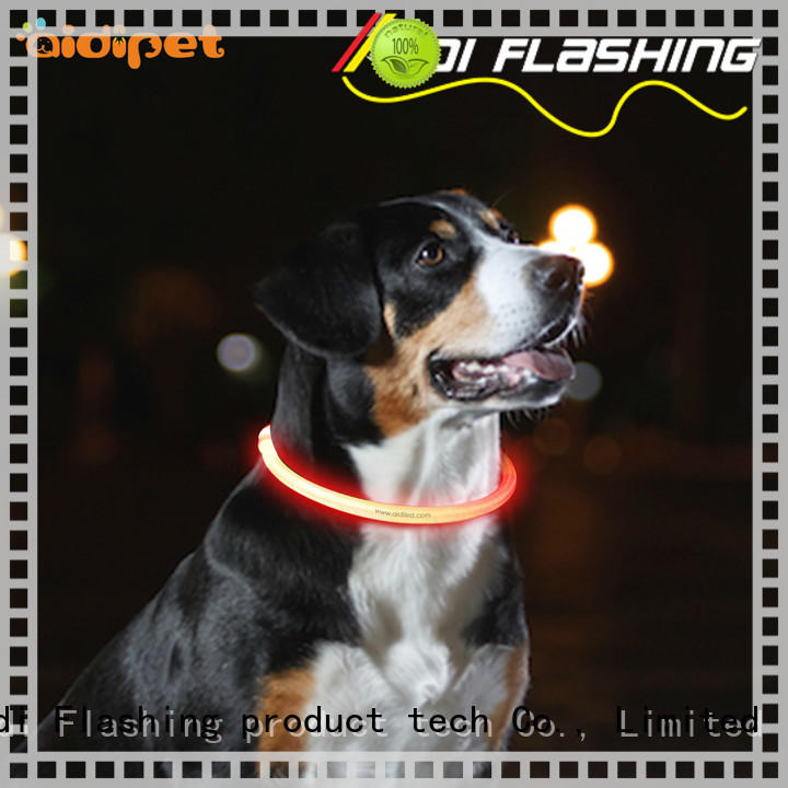 AIDI-C1 LED waterproof dog collar lights that light up at night