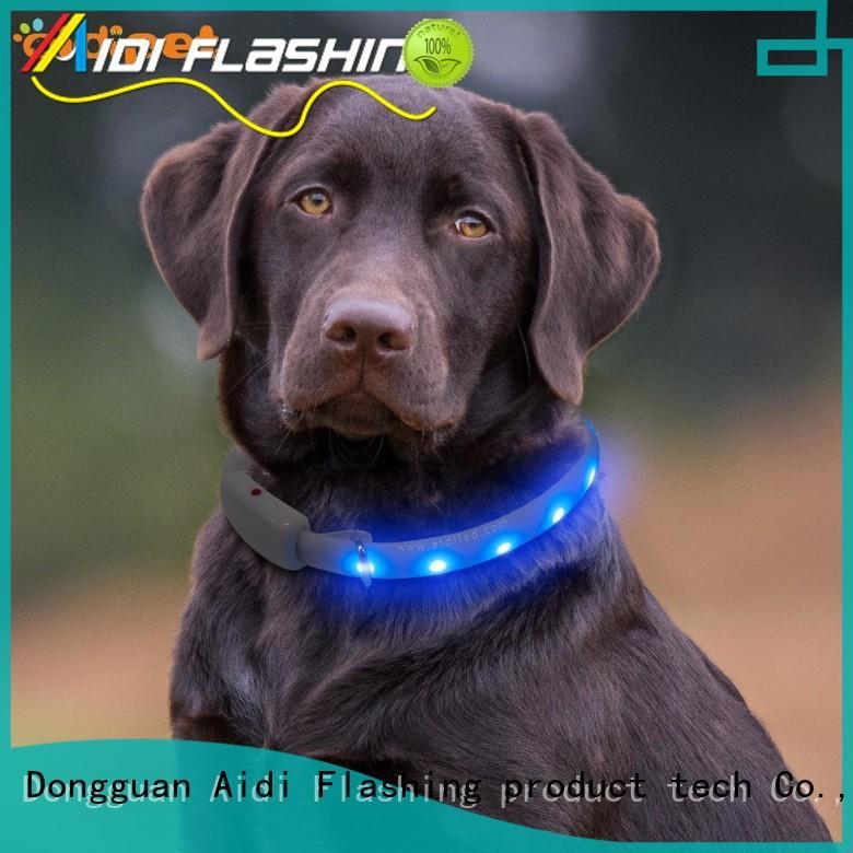 AIDI collars dog collars for dark nights customized for pet