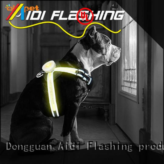 AIDI reflective dog harness customized for street