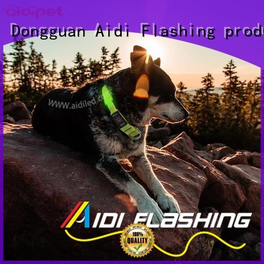 bluetooth best flashing dog collar bright for park AIDI